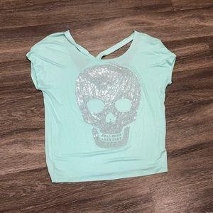 Bling skull blouse